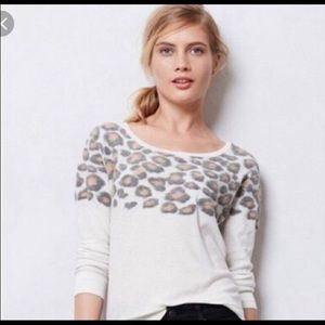 Anthropologie Moth Leopard Top